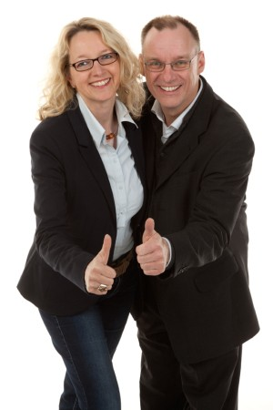 Heike and Harald Puse, owners of the translation agency transmit-Deutschland
